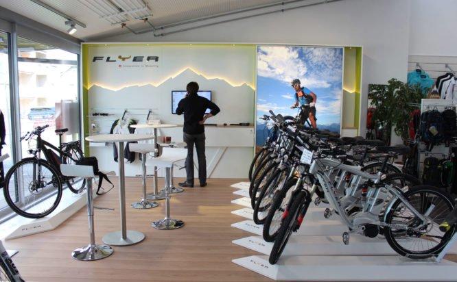Biketec AG Shop-in-Shop-System Flyer