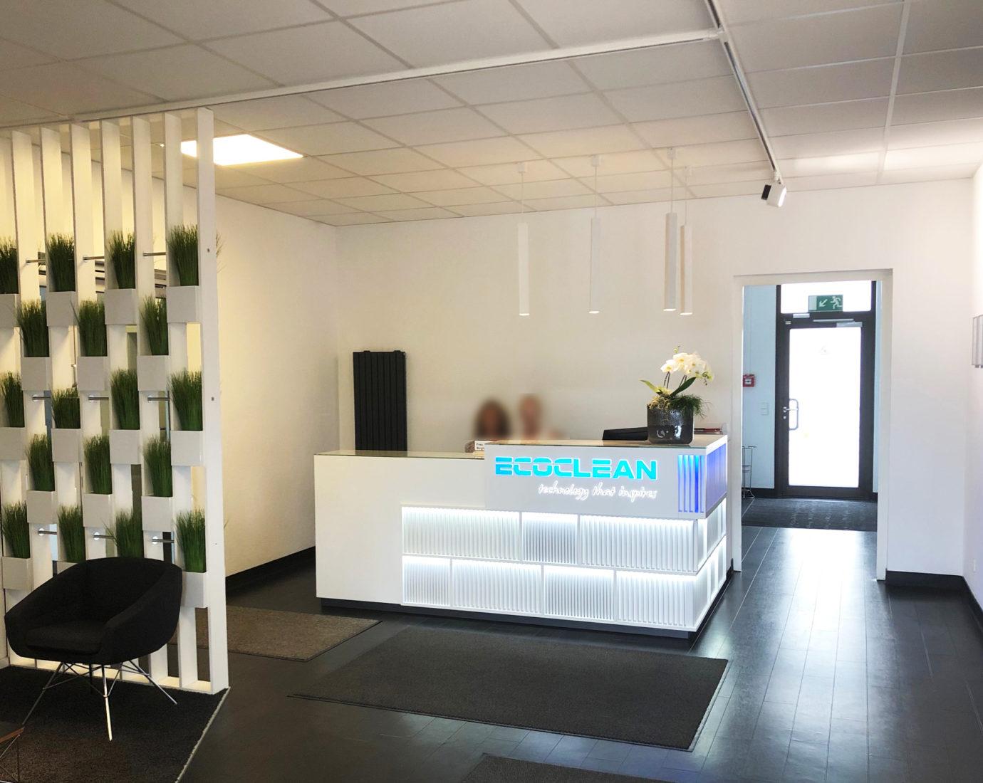 Ecoclean Eingangsbereich für eine ideale Markenpräsentation