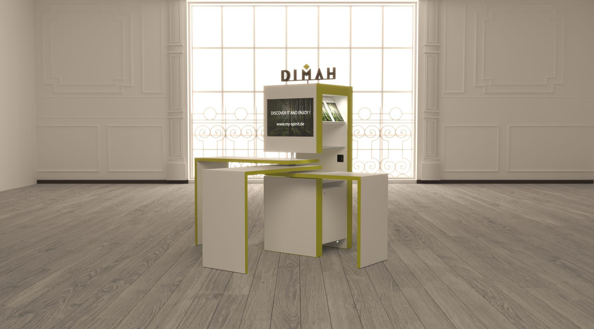 »SPINit! das intelligente, modulare Möbelsystem um Marken zu präsentieren«